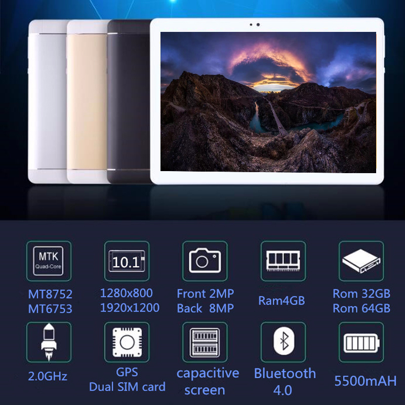 Original 10 inch 3G/4G LTE Phone tablet PC Octa Core RAM 4GB ROM 64GB 1920*1200 IPS Dual SIM card tablets pcs 10.1 free Shipping free shipping 10 inch tablet pc 3g phone call octa core 4gb ram 32gb rom dual sim android tablet gps 1280 800 ips tablets 10 1