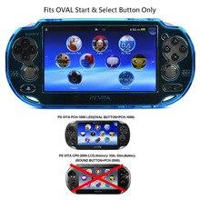 XRHYY Ánh Sáng bảo vệ Màu Xanh cứng trường hợp bìa cho Playstation PS VITA 1000, phù hợp với đối Oval Bắt Đầu & Chọn nút chỉ