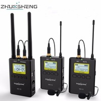 ZhuoSheng WM 10 Wireless Lapel Lavalier Microphone system clip Mic For Camera Canon Nikon Sony Camcorders smartphone iphone