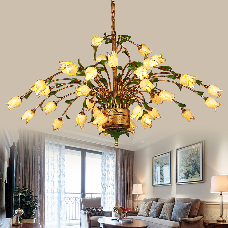 American Chandelier Art rural countryside retro European style hall hall dining room luxury villa living room Chandelier