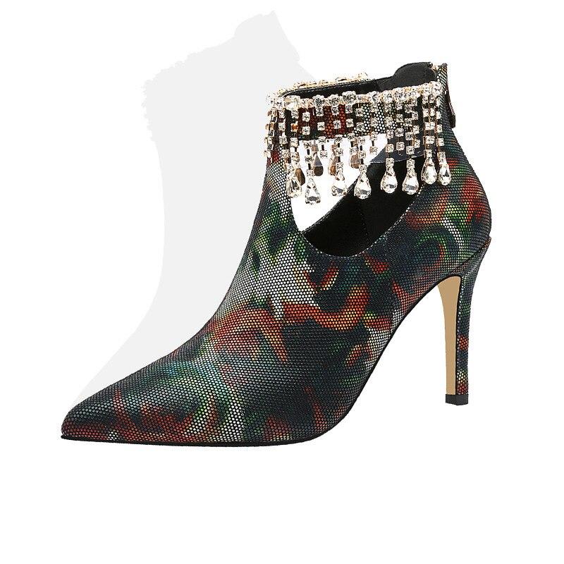 Up Partie Pointu De Army Femme Suede Spéciale Green Grande Chaussures Mariage Offre Bout Lapolaka Zip Hauts Pompes Taille Talons 33 40 Kid qHPO6WFzwx