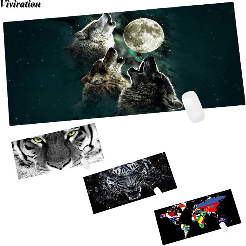 New Keyboard Gaming Mousepad Desk Mat For Game Player Desktop PC Computer Laptop Viviration 90*40CM Large Locked Edge Mouse Pad