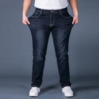 Plus Size Mens Denim Cargo Hip Hop Baggy Jeans Men Loose Fit Long Trousers Big Size 44 46 48 Pants Jeans with Side Cargo Pocket
