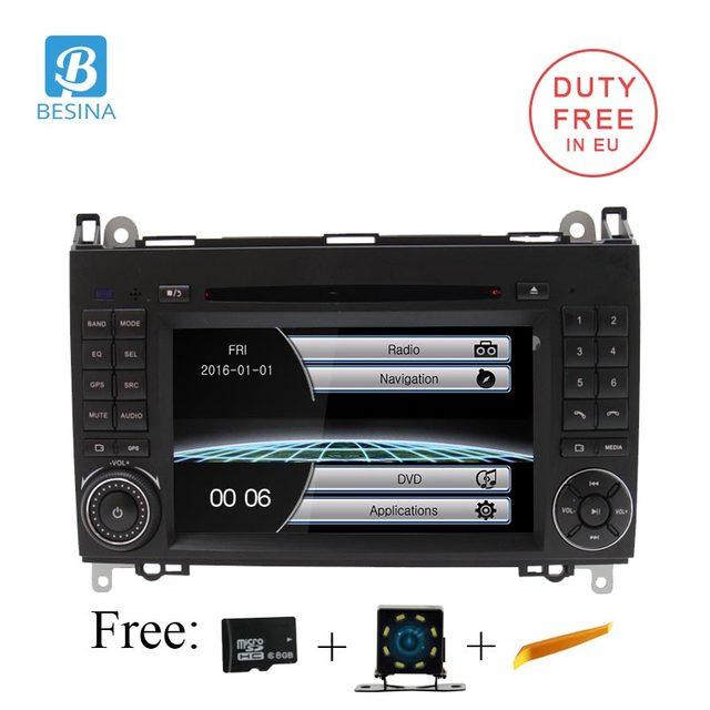 Besina Car DVD Player For Mercedes Benz B Class B200 W169 W245 W639 Viano Vito Sprinter B170 Radio GPS navigation Steering Wheel