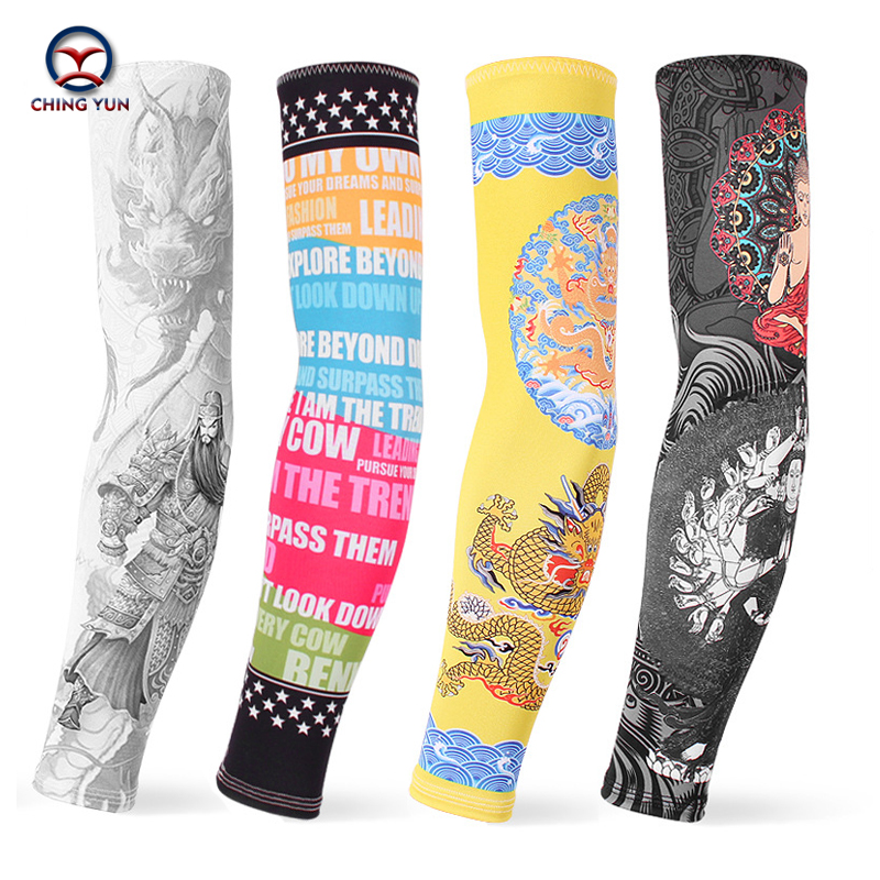 CHING YUN New Fashion Tattoo Sleeves Arm Warmer Unisex UV Protection Outdoor Temporary Fake Tattoo Arm Sleeve Warmer Two Sleeves