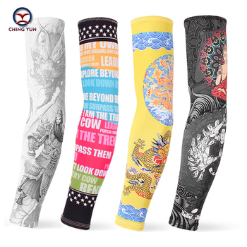 CHING YUN New Fashion Tattoo Sleeves Arm Warmer Unisex UV Protection Outdoor Temporary Fake Tattoo Arm Sleeve Warmer Two sleeves 1pc nylon tatoo arm stockings arm warmer cover elastic fake temporary tattoo sleeves for men women new arrival