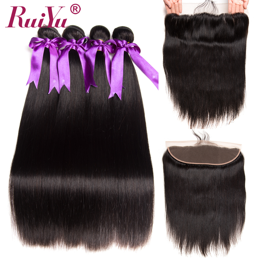 Peruvian Straight Hair Bundles With Frontal 13 4 Lace Frontal With Bundles Non Remy 100 Human