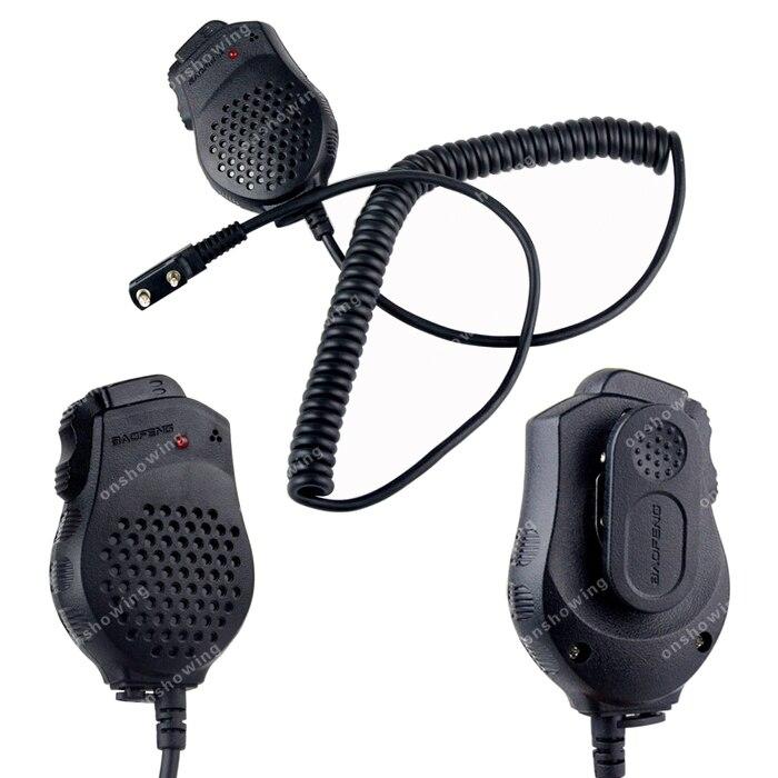bilder für 2x BAOFENG Pofung Lautsprecher Mic Mikrofon Dual-ptt Für CB Tragbare Zweiwegradio UV82 UV82L UV8 UV8D UV89 UV82HX Walkie Talkie