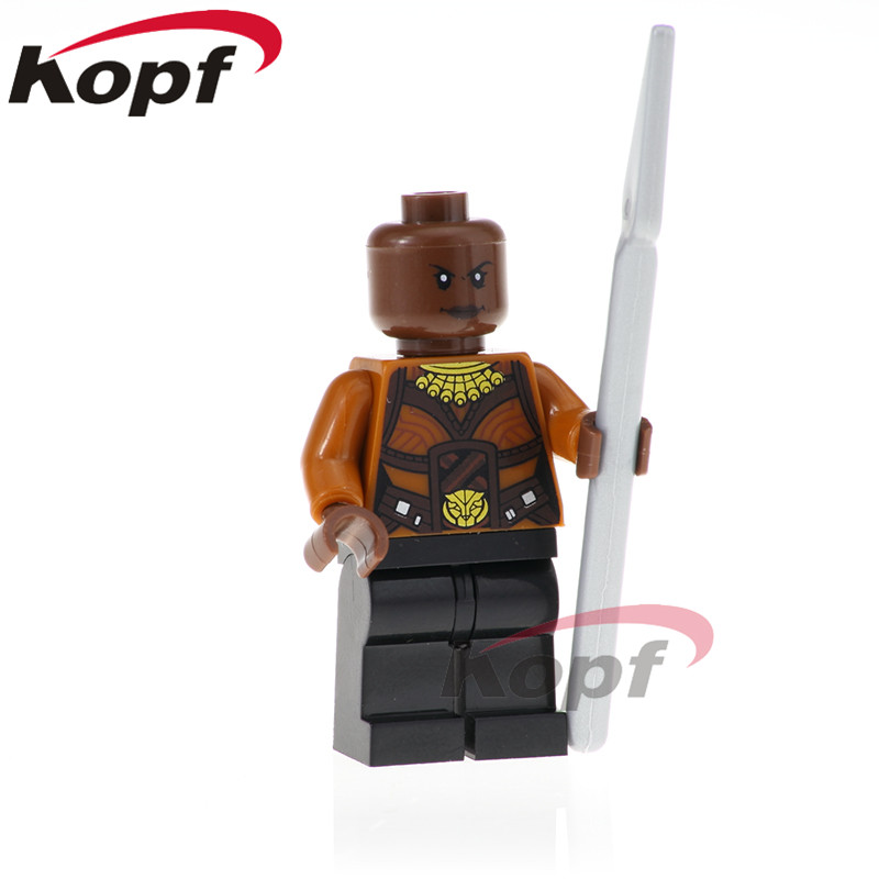 Building Blocks Super Heroes Single Sale Okoye Figures Black Panther Shuri Erik Killmonger Toys Bricks Children Gift XH 805