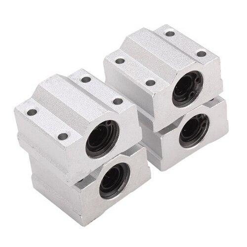 SCS8UU Linear Motion Ball Bearing CNC Slide Bushing 34.5mm Length 4pcs scv35uu slide linear bearings aluminum box type cylinder axis scv35 linear motion ball silide units cnc parts high quality