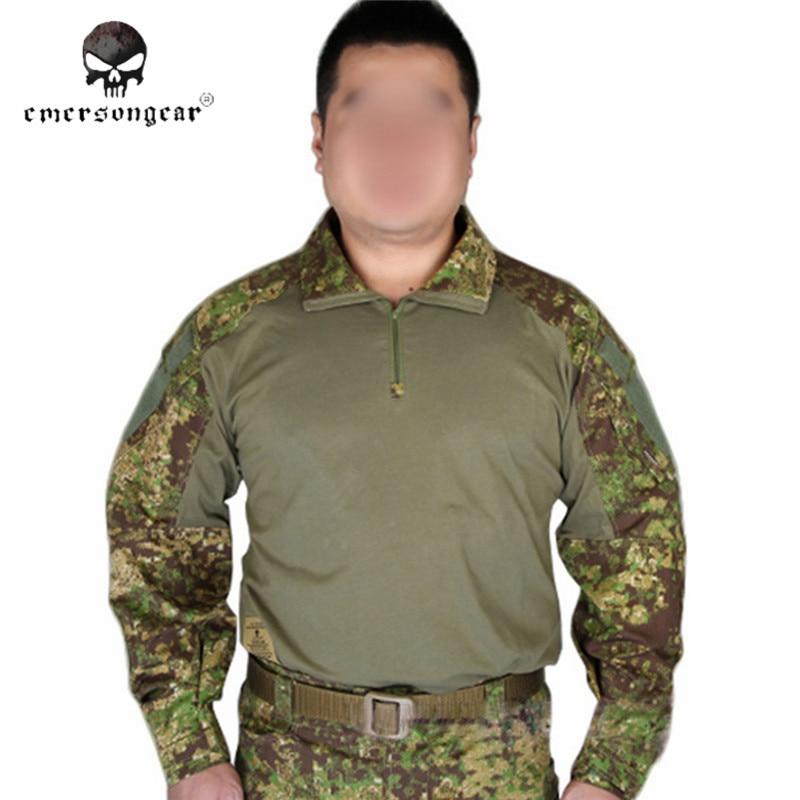 ФОТО Emersongear G3 Airsoft Tactical Military Long Sleeve T-shirt Camo Hunting Combat Cotton Shirt Men Sportswear Clothing EM9244