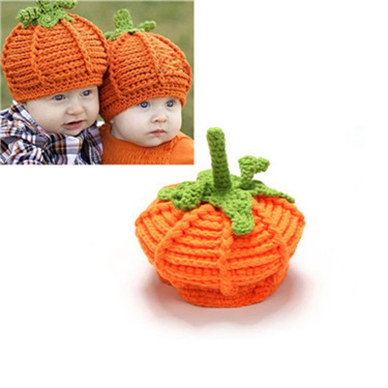 WZCX 2019 New Pumpkin Baby Keep Warm Casual Tide Knitted Hat Party Autumn Winter Beanie Halloween Hat(China)