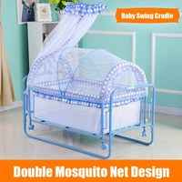 2 In 1 Rocking Baby Cribs Bed Baby Swing Cradle Cot Bed
