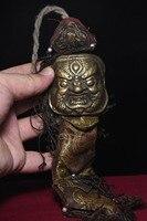 Christmas Tibet Buddhism Copper Bronze Dharma Deity Vajrakilaya Buddha head Statue Pendant Halloween