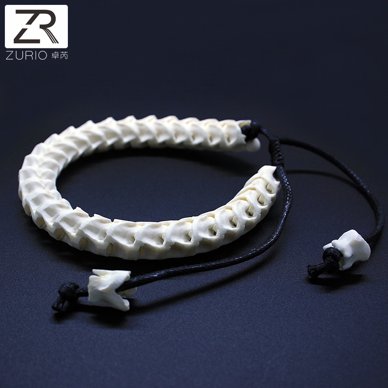 Zurio 100% Natural Real Snake Bone Bracelet Adjustable Personalized Unique Bracelet Bone Of Cobra Handmade Free Shipping prediction of bone length from bone fragments