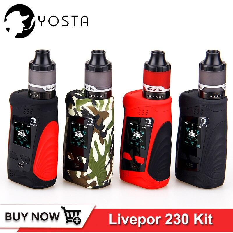 D'origine Yosta Livepor 230 kit 230 W TC boîte mod 0.01 s rapide tir vitesse IGVI P2 réservoir vaporisateur E Cigarette kits fit pour 18650 batterie
