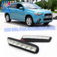 2PCs Set Super Bright LED DRL Daylight Daytime Running Lights For MITSUBISHI Outstander Sport RVR ASX