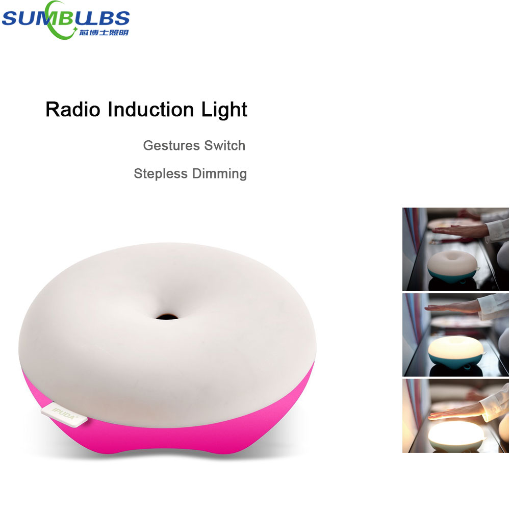 Creative Design Dimmable Gesture Inductive Controlled LED Bed Lamp Wireless Sensor Lighting Eye Protection Household Table Light dimmable touch sensor powerful led desk lamp eye protection 5 level dimmer 4 lighting modes table lamp lamparas led r25