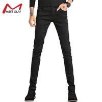 Для мужчин Джинсы для женщин тощий зима теплый Байкер Джинсы для женщин для Для мужчин дешевые эластичная Большие джинсы Homme Повседневное д...