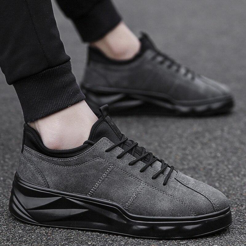 Aumentar Zapatos Grueso Los Negro 2019 gris khaki Tendencia Deportivos Nuevos Hombres Plataforma Fondo De AwwqSzY