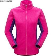 EIJRKERRYBRII New Womens Winter Fleece Jacket Coats Fashion Casual Warm Long Sleeve Ladies Windproof Coat Black White Size S-XXL