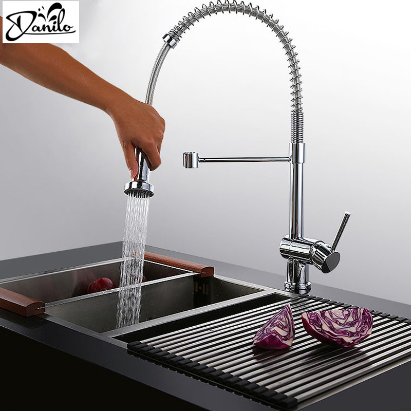 Best Kitchen Sink Faucets: Best Quality Chrome Solid Brass Water Power Kitchen Faucet