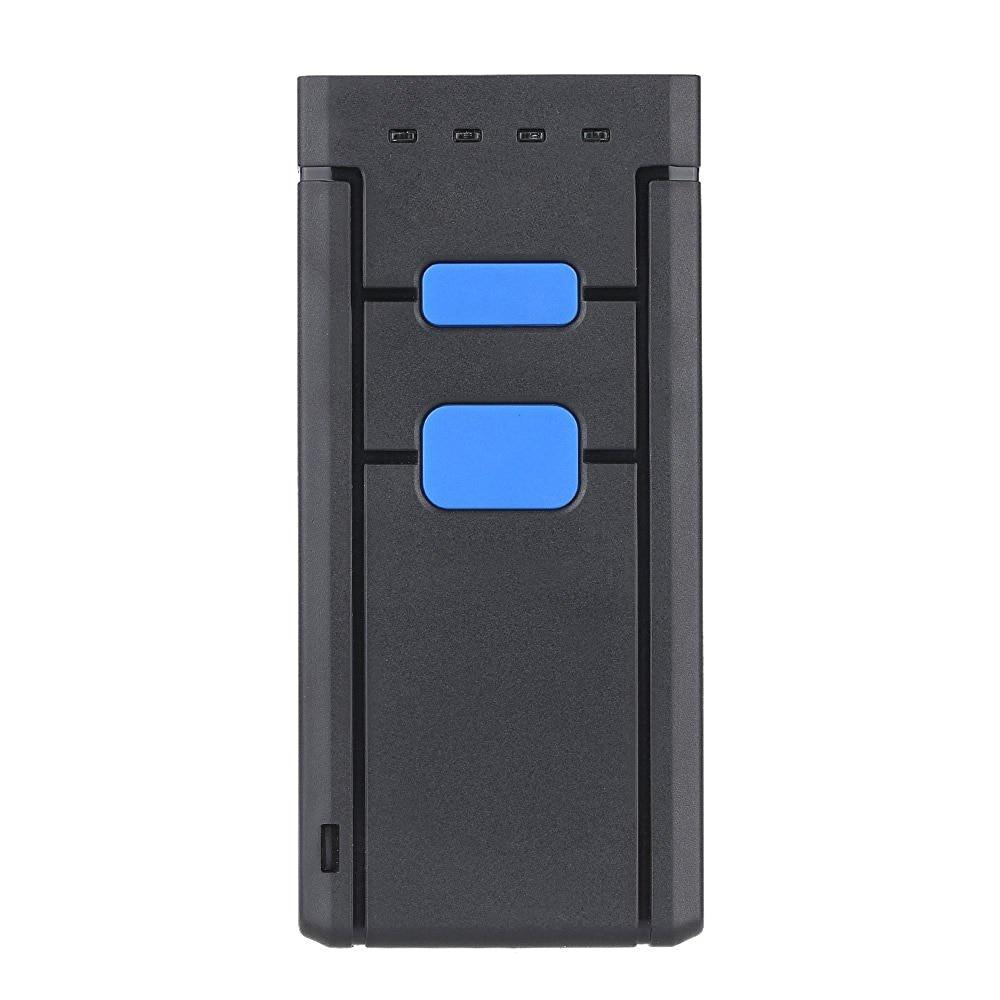 Mini Sem Fio Bluetooth Leitor de código de Barras Scanners de código de Barras Scanners de código de Barras CCD Sem Fio Portátil One Size Red Light