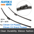 "Wiper blades for Citroen C4 Grand Picasso & C4 Picasso ( from 2014 onwards ) 32""+30""R fit push button type wiper arms only"