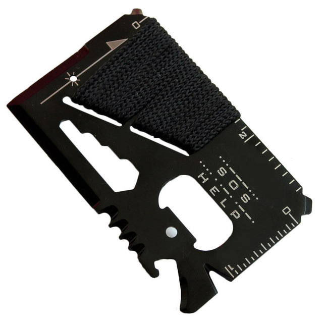 Credit Card Size Multifunctional Pocket Hunting Knife Kit 1