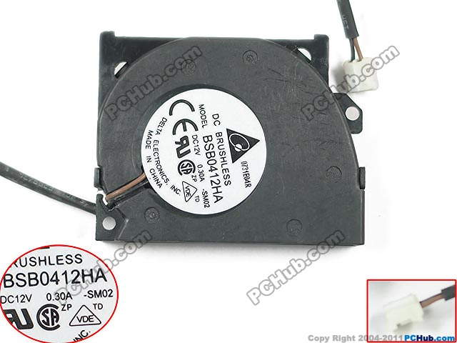 купить  Free Shipping For DELTA BSB0412HA, -SM02 DC 12V 0.30A 2-wire 2-Pin connector 70mm 40x40x10mm Server Blower Cooling fan  онлайн