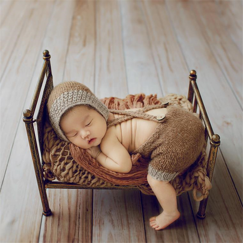 Nouveau style nouveau-né lit prop Vintage bébé lit photographie accessoires