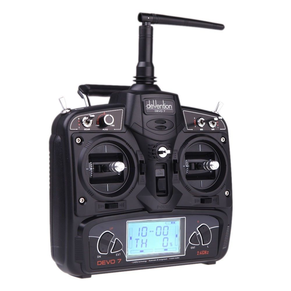 Walkera Devo 7 Transmitter Devention 7 Radio 7 CH 2.4Ghz free shipping with tracking walkera aluminum case for devo f12e fpv radio 5 8ghz transmitter silver