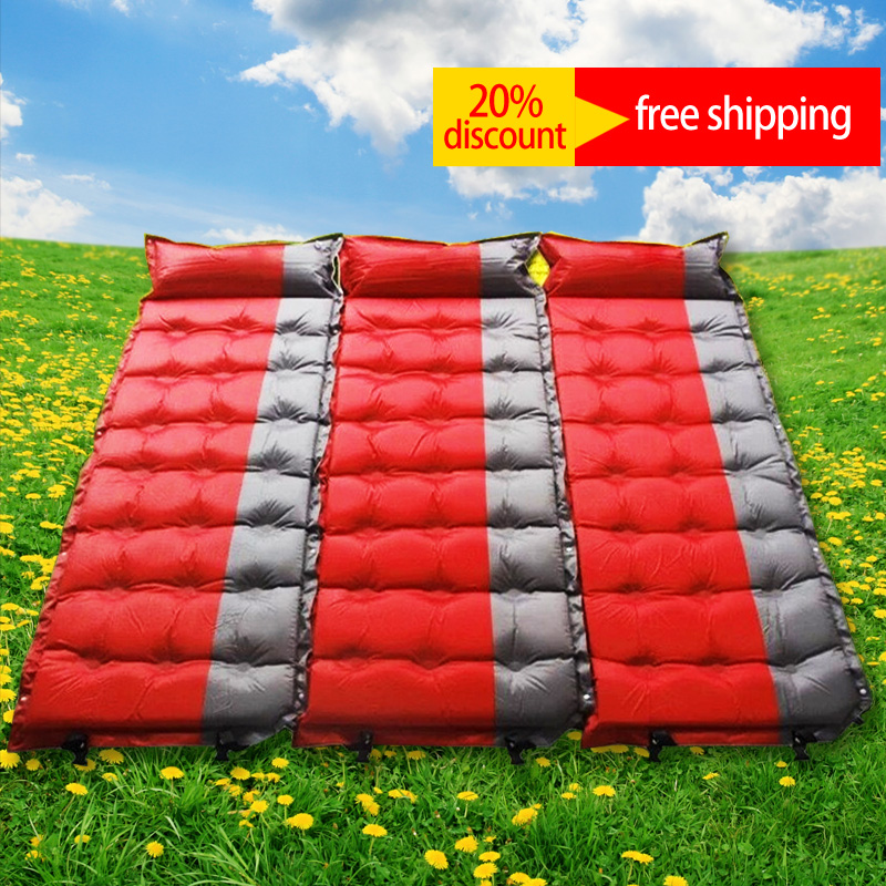 Self Inflatable air mattress Picnic camping Aerated Mat outdoor camp bed sleeping pad sleep tourism matelas gonflable piknik high quality barbecue camping equipment matelas gonflable tourist tent mat sleeping blanket beach mat yoga pad