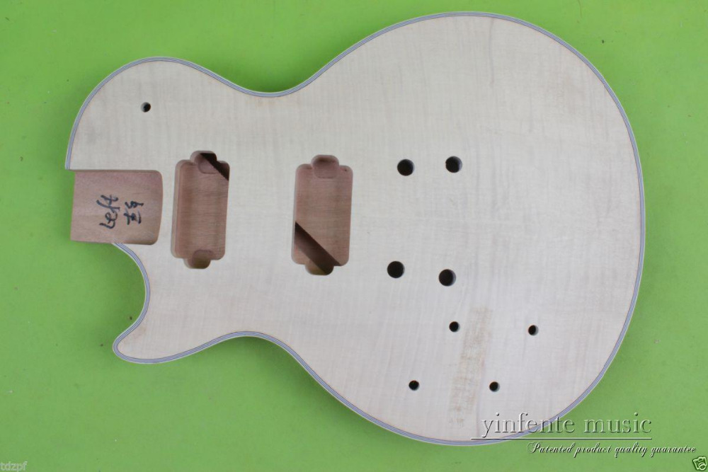 Electric guitar Body Solid Body Replace mahogany Flame Maple Veneer left #863 body solid mb507rg