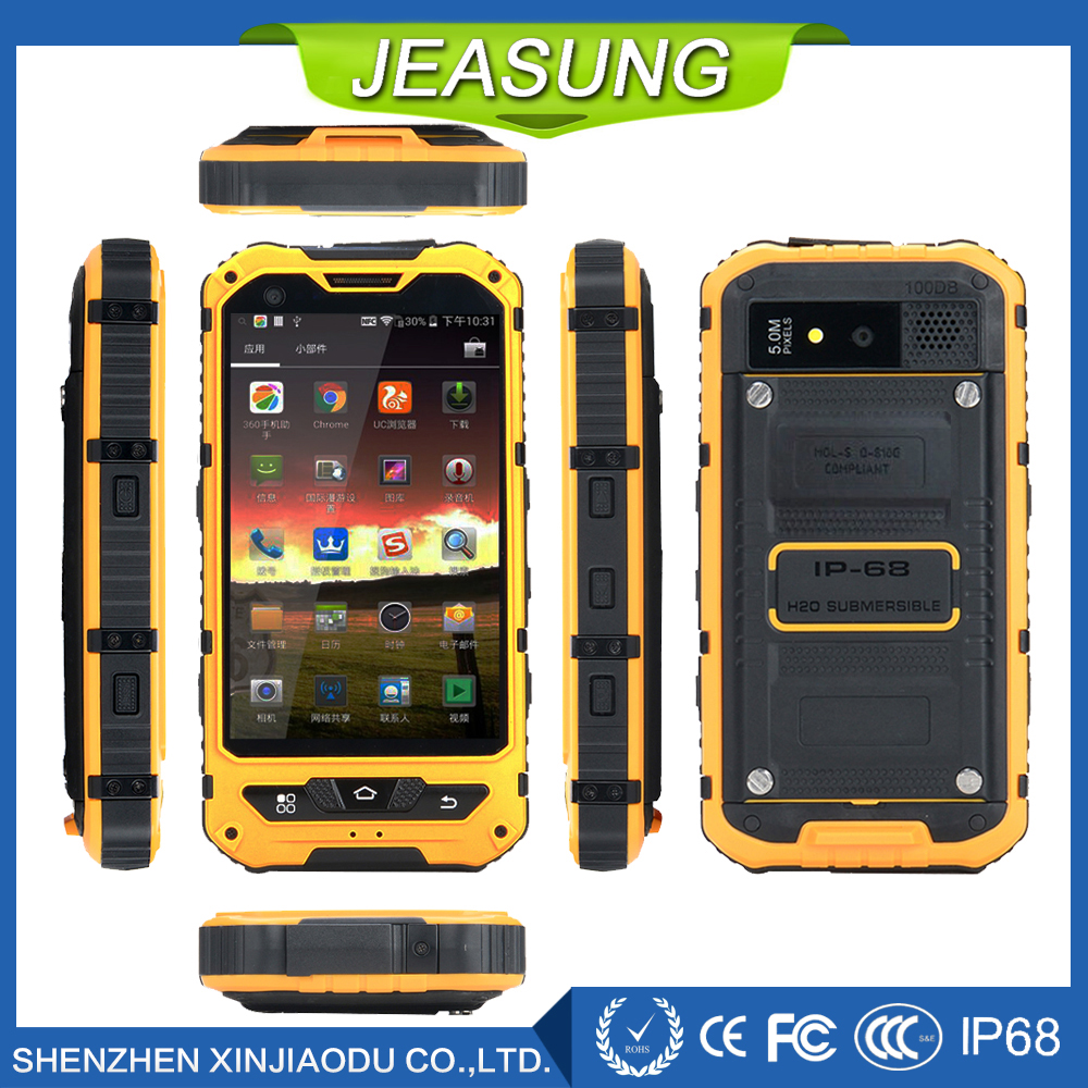 Jeasung A8 3G Rugged Smartphone Quad Core MTK6580 Android 4 4 1 8GB 3000mAh Battery