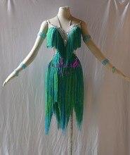 KAKA-NL1502, Wanita Pakaian Tarian, Pakaian Latin Fringe, Pakaian Salsa Tango Samba Rumba Chacha Pakaian, pakaian tari wanita