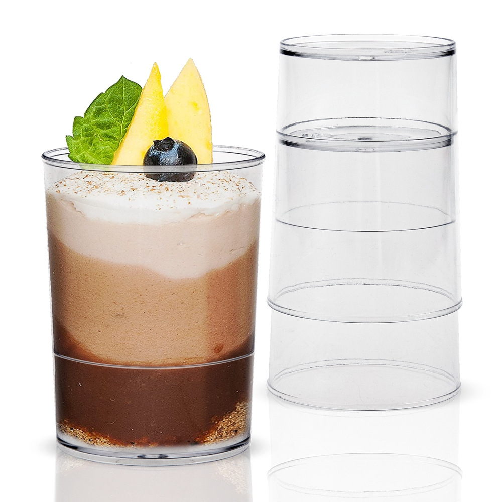 Promotion - Party Suppliers, Disposable Plastic Tableware, 45*50mm/60ml Transparent Mini Dessert Cup, 20/Pack