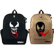 23d83a66089c3c Marvel Venom Waterproof Canvas Backpack School Bag Laptop Bag Large  Capacity BookBag(China)
