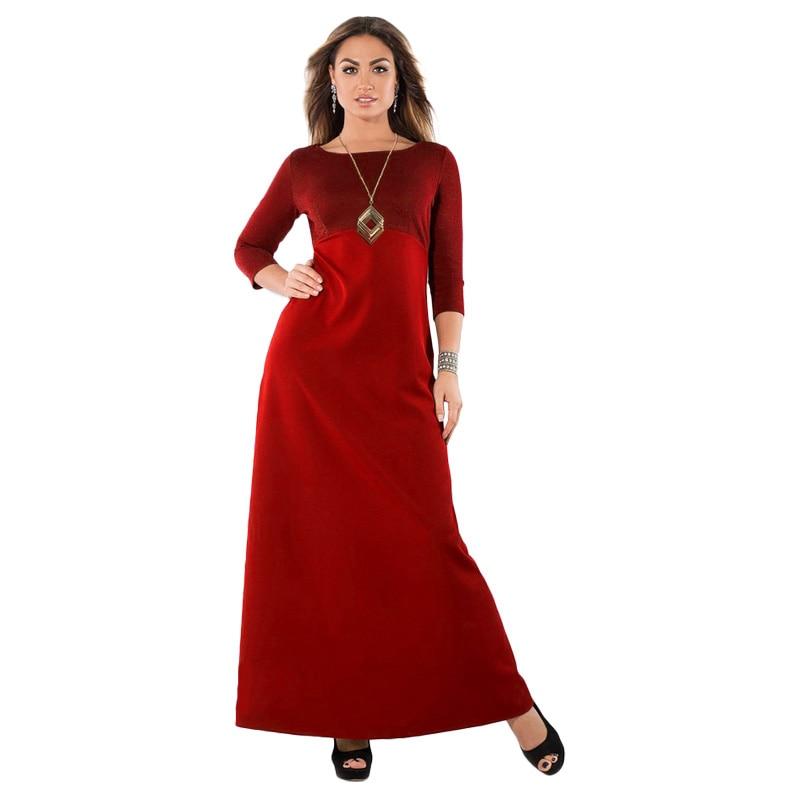 US $17.14 37% OFF|3XL 4XL 5XL 6XL Plus Size Maxi Dress Women Long Dress  Metallic O Neck Long Sleeve Slim Oversized robe female indian gown  dresses-in ...