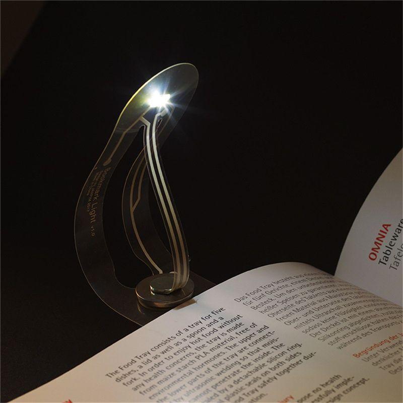 Ультра-тонкий светодиодный ночной свет закладки складной изогнутый свет книги для чтения глаз