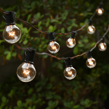 25Ft G40 Globe Bulb String Lights With 25 Clear Ball Vintage Bulbs Indoor/Outdoor Hanging Umbrella Patio Lighting EU/US