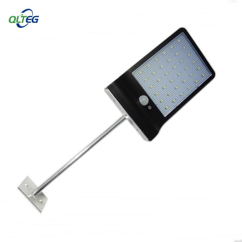 Solar Powered 36 LED PIR Motion Sensor Waterproof Street Security Light Wall