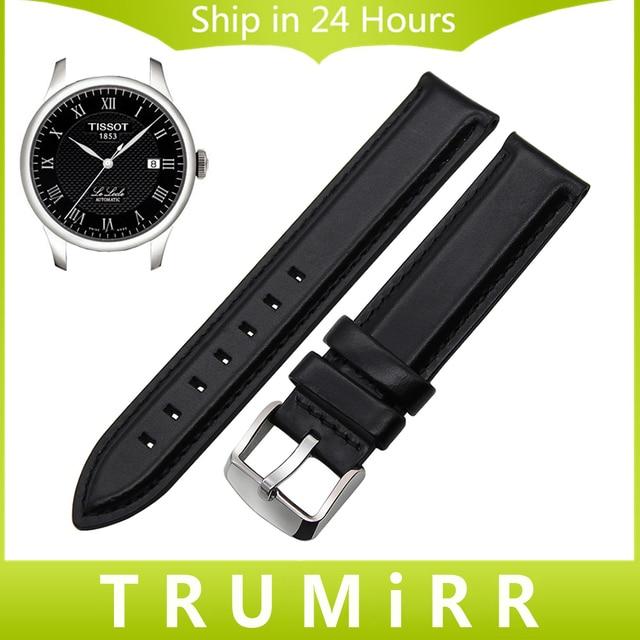 Capa superior de cuero genuino correa de reloj + herramienta para tissot 1853 hombres las mujeres Correa de Reloj Pulsera de la Pulsera Negro Marrón 13mm 18mm 20mm