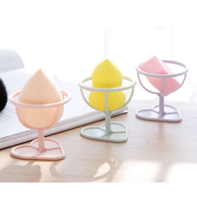 Beauty Essentials Lovely 1pc New 4 Color Makeup Sponge Gourd Powder Puff Rack Powder Puff Bracket Box Dryer Organizer Beauty Shelf Holder Tool