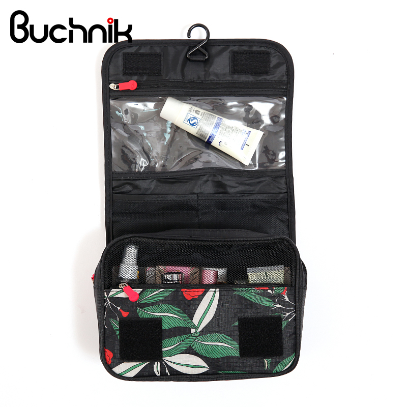 Women Zipper Hanging Cosmetic Toiletry Bags Toiletry Organizer Make Up Bag  Beautician Necessary Wash Pouch Travel Accessories 802ea02a9fd01
