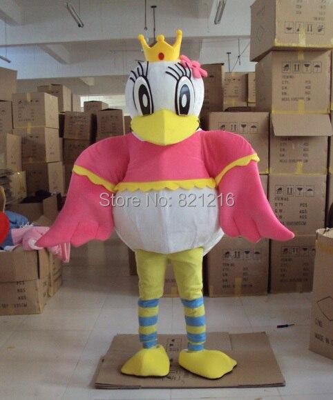 Costume de mascotte de reine de canard Costume de personnage adulte pour l'événement de fête d'halloween