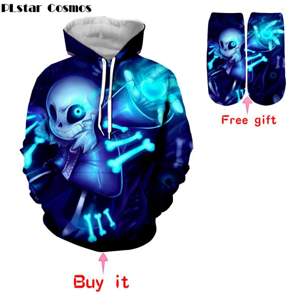 PLstar Cosmos new Undertale hoodies 2018 new design Sans pattern 3D printing fashion men women hoodies sweatshirts tops
