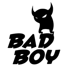 CS-650#17.8*15cm BAD BOY funny car sticker vinyl decal silver/black for auto stickers styling decoration