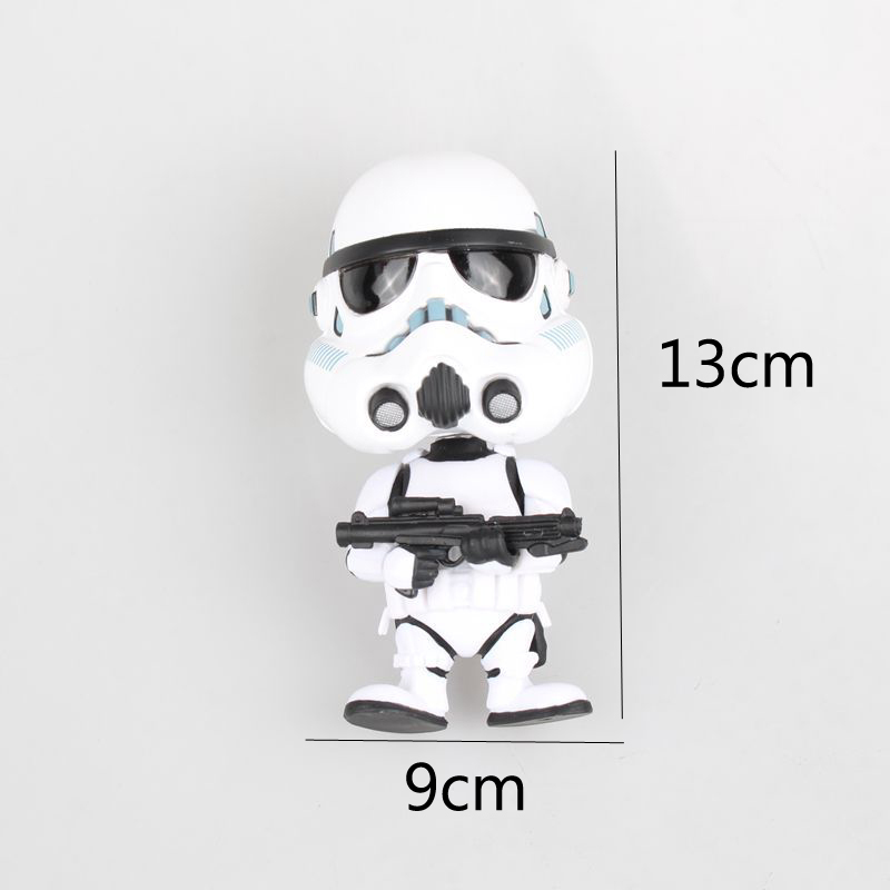 Image 4 - Car Ornament Cute Decoration Shaking Head Doll For Star Wars Stormtrooper Boba Fett Action Figure Auto Interior Bobblehead Toys-in Ornaments from Automobiles & Motorcycles