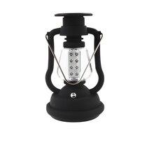 120 Lumens נייד שמש מטען פנס חירום 16 LED קמפינג פנס עמיד למים נטענת יד Crank אור מנורה